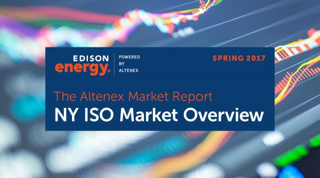 The Altenex Market Report – Spring 2017: NY ISO Market Overview