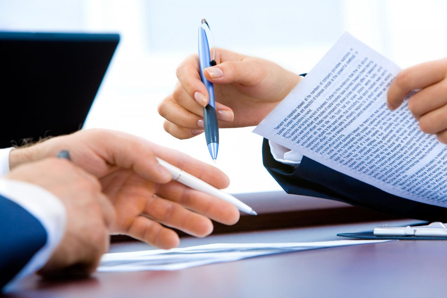 Business Meeting Signing a Contract