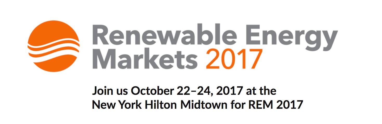 Renewable Energy Markets Conference 2017
