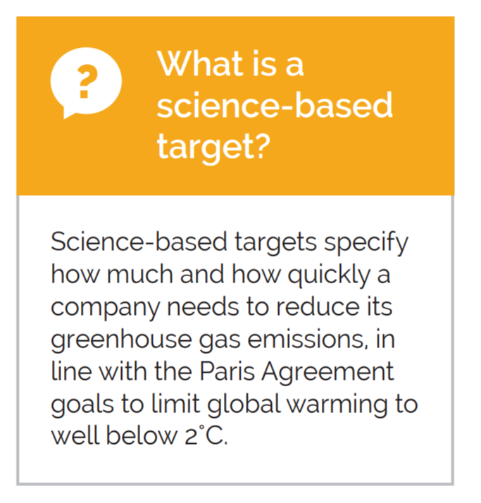 What is a science based target?