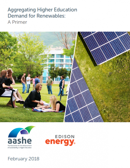 Cover of Aggregating Higher Education Demand for Renewables: A Primer