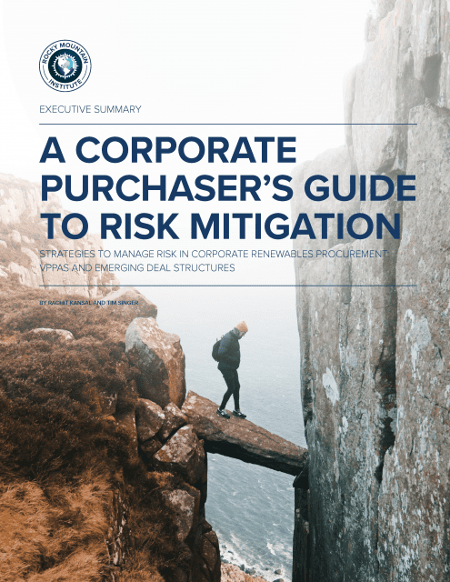 Edison Energy Collaborates with BRC on Risk Mitigation Report