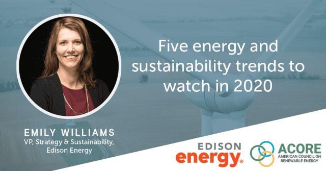 Five Energy and Sustainability Trends to Watch in 2020