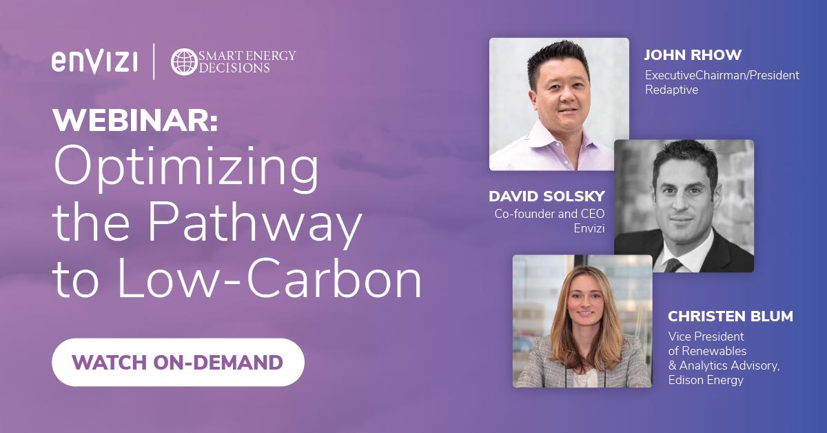 Envizi SED Edison Energy sustainability webinar