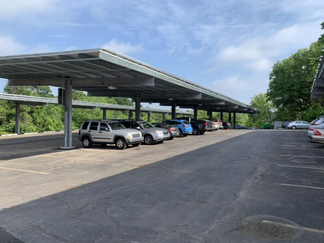 Wildlife habitat program and onsite solar energy carport at Wilmington headquarters
