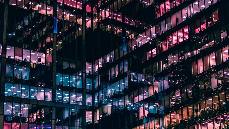 Building - Purple Windows