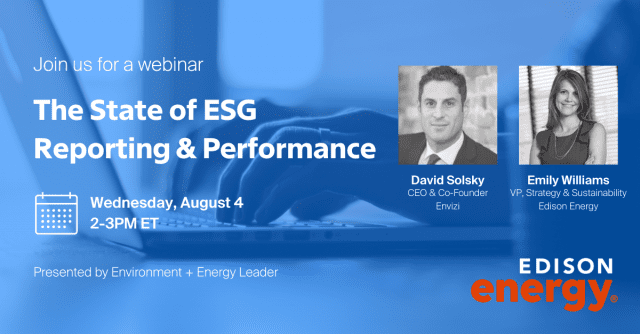 The State of ESG Reporting & Performance