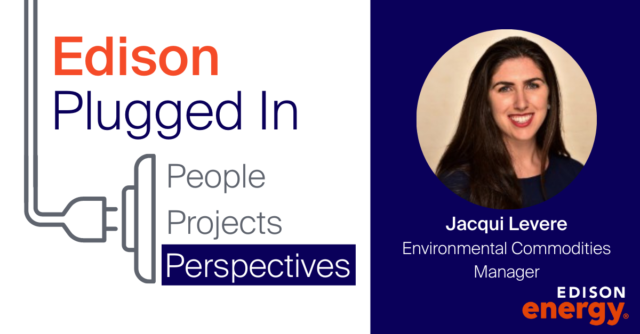 Jacqui Levere to head up Edison's new Environmental Commodities function as RECs and carbon credits see rising client demand